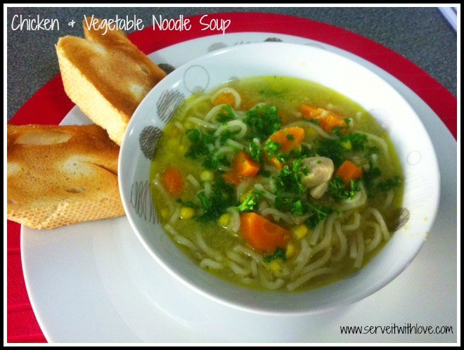 Chicken & Vegetable Noodle Soup