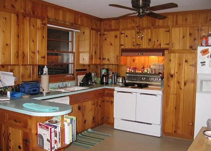 Rustic Kitchen Designs With Unfinished Pine Kitchen Cabinets