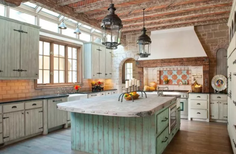 Rustic Primitive Kitchen Cabinets
