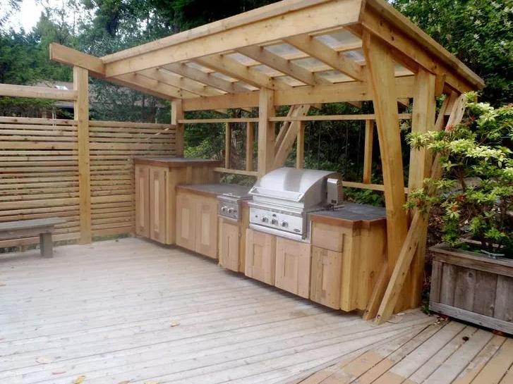wood outdoor kitchen ideas by pinterest
