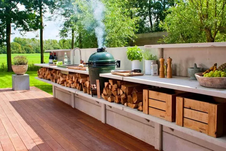 Rustic Outdoor Kitchen by hgibloomington.com